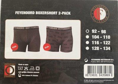 35869 Feyenoord boxershort 2-pack maat 92 - 98