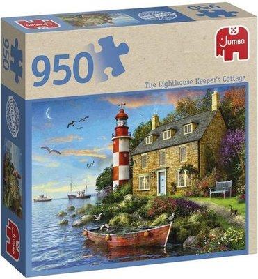 81812 Jumbo Puzzel Falcon The Lighthouse Keeper's Cottage 950 Stukjes