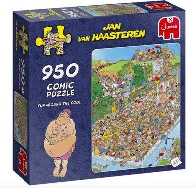 81798 Jumbo Puzzel Jan van Haasteren Fun Around the Pool 950 Stukjes