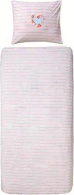 5842 Lief! Dekbedovertrek 140x200 roze dubbelzijdig