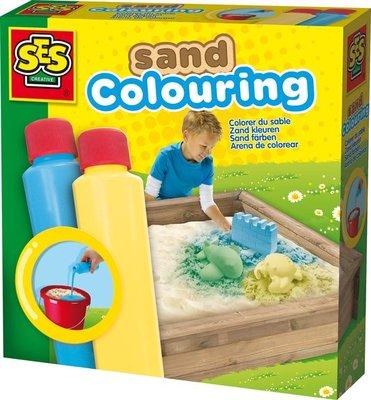 02212 SES Zand Kleuren Blauw En Geel