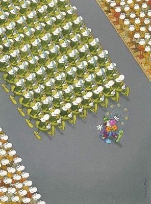 35078 Clementoni Puzzel Mordillo the March 500 Stukjes