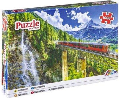 61061 Grafix Puzzel Trein In De Bergen 1000 Stukjes