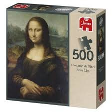 81866 Jumbo Puzzel Mona Lisa 500 Stukjes