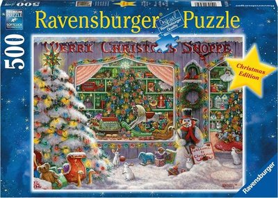 165346 Ravensburger Puzzel The Christmas Shop 500 Stukjes
