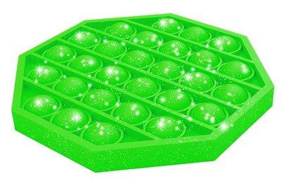 05158 Pop-It Achthoek Glitter Groen