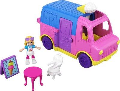 74986 Mattel Polly Pocket Pollyville Vehicles Ijscowagen