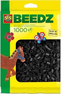 00706 SES Beedz Strijkkralen 1000 Stuks Zwart