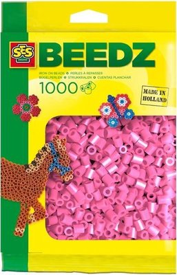 00708 SES Beedz Strijkkralen 1000 Stuks Roze