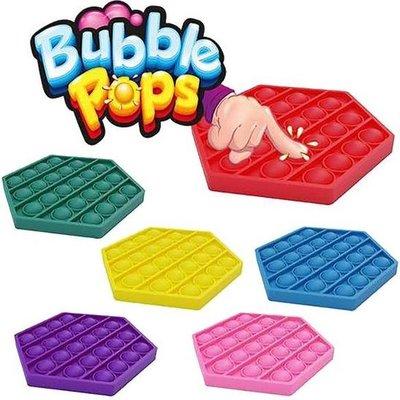 05011G POP-IT Bubble pops Achthoek Lichtblauw