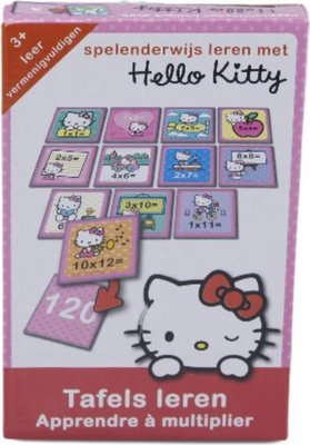 999001 Hello Kitty Leer Tafels 30x13x3cm Leerspel voor Kinderen
