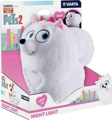 88112  Varta The Secret Life of Pets 2  Babynachtlamp Vrijstaand Roze/ Wit