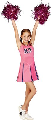 08655 K3 jurkje Cheerleader Maat 134 Verkleedjurk