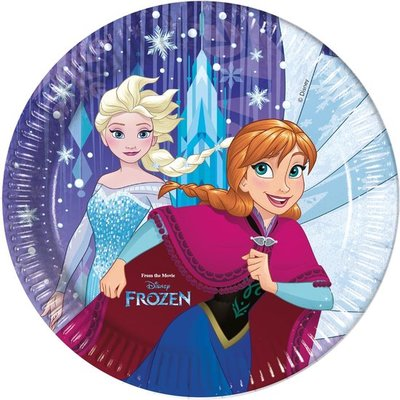 78934 Frozen Disney Feestborden Frozen 23 Cm 8 Stuks