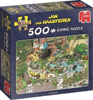 81513 Jumbo Puzzel Jan van Haasteren All Dug Up! 500 Stukjes