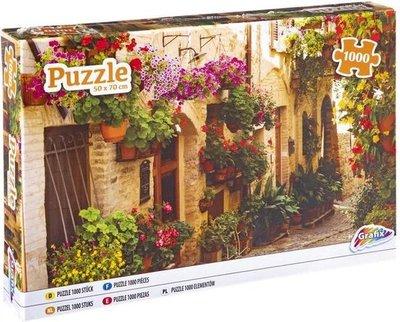 62464 Grafix Puzzel Narrow Street Flowers 1000 Stukjes
