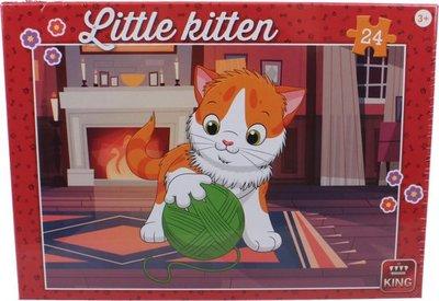 05796 King Puzzel Little Kitten Junior With Wool  24 Stukjes