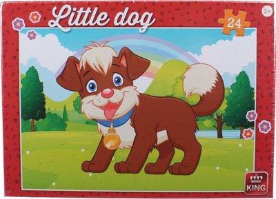 05799 King Puzzel Little Dog In The Parc 24 Stukjes
