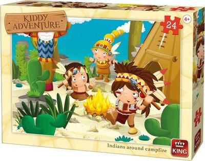 05790 King Puzzel Kiddy Adventure Indians Around Campfire 24 Stukjes
