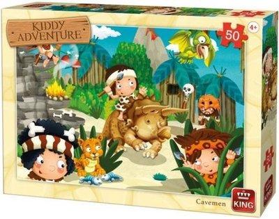 05792 King Puzzel Kiddy Adventure  Cavemen 50 Stukjes