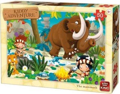 05791 King Puzzel Kiddy Adventure The Mammoth 50 Stukjes