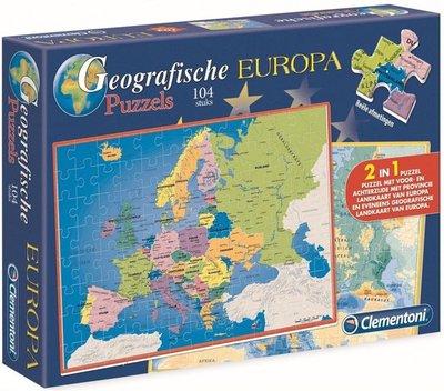 66496 Clementoni Geographic Puzzel Europa