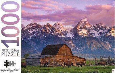 10296 Hinkler Puzzel Moulton Barn Wyoming USA 1000 Stukjes