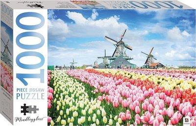 01377 Hinkler Puzzel Hollandse Molens en Tulpen 1000 Stukjes