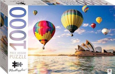 01353 Hinkler Puzzel  Opera House Sydney met luchtballonnen Australia 1000 Stukjes