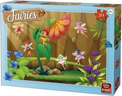 05803 KING Puzzel Fairies Fairy with Flower 50 Stukjes