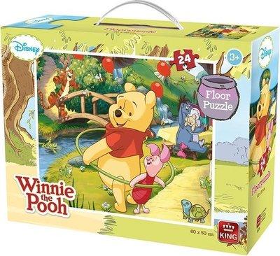05274 King Puzzel Disney Winnie the Pooh Grote Vloerpuzzel 24 Stukjes