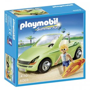 6069 Playmobil Cabrio met surfer