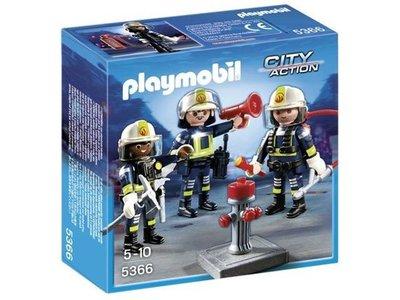 5366 Playmobil Trio brandweermannen