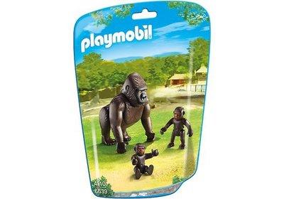 6639 Playmobil Gorilla met baby's