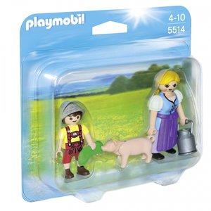 5514 Playmobil Boerin en zoon