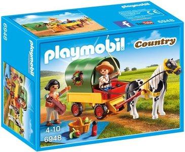 6948 Playmobil Picknick met ponywagen