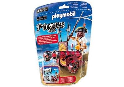 6163 Playmobil Zeerover met rood kanon