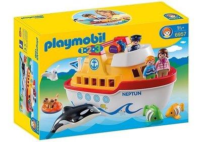 6957 Playmobil 123 Meeneem schip Neptun