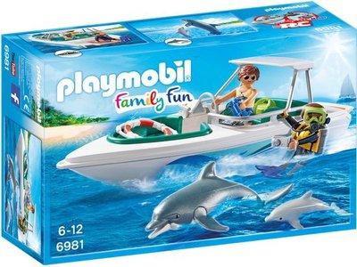 6981 Playmobil Duiktrip met plezierboot