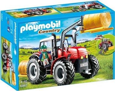 6867 Playmobil Grote rode tractor met werktuigen